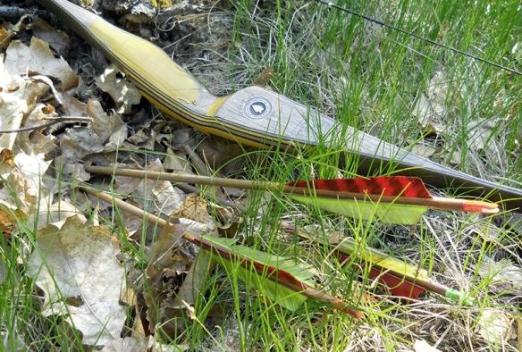 Stumping with my St Joe River longbow.