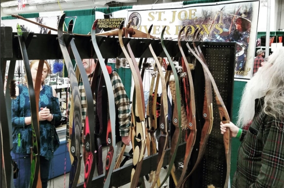 The St. Joe River Bows booth at the Traditional Bowhunter's Expo